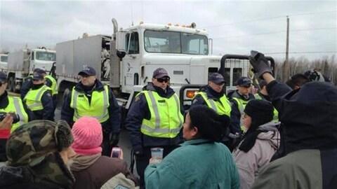 Manifestation contre le gaz de schiste au Nouveau-Brunswick