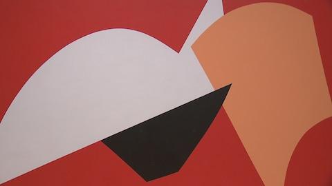 Une oeuvre du peintre Marcel Barbeau