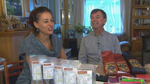 Marie-Dominique Bergeron et son conjoint, Martin Perron, en entrevue