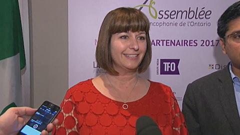 Marie-France Lalonde en point de presse