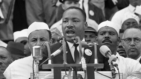Martin Luther King a livré son célèbre discours « I have a dream » le 29 mars 1963, au mémorial de Lincoln, à Washington.