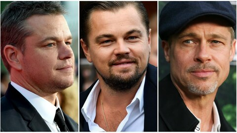 Matt Damon, Leonardo DiCaprio et Brad Pitt