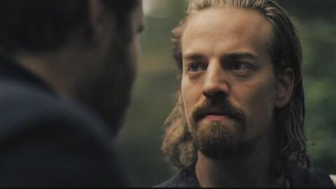 L'acteur Maxime Le Flaguais dans le rôle d'Alexis Labranche, de la série « Les pays d'en haut »