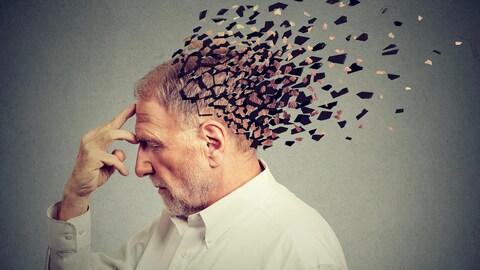 Illustration d'un homme qui perd la mémoire.