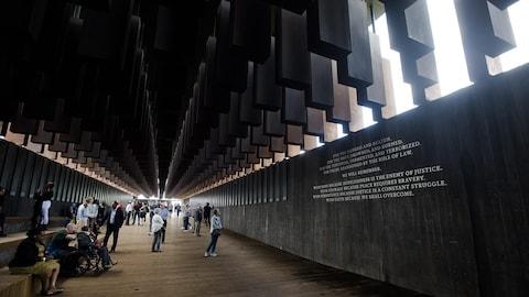 Le nouveau Mémorial pour la Paix et la Justice, à Montgomery en Alabama