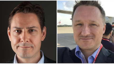 Un montage de photos des deux hommes