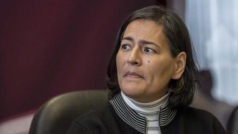 Une des commissaires de l'ENFFADA, Michèle Audette, le 2 octobre dernier
