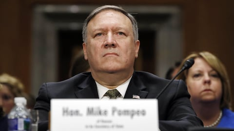 Mike Pompeo lors de son audition devant la  commission des Affaires étrangères, le 12 avril dernier, à Washington