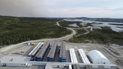 Le site de la mine Renard de Stornoway Diamonds a dû être évacué en raison des feux de forêt qui menacent le nord du Québec.