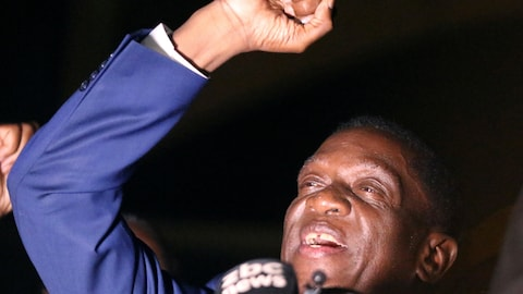 Le futur président du Zimbabwe Emmerson Mnangagwa