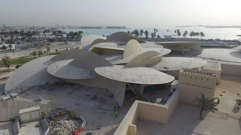 Le musée national du Qatar en construction