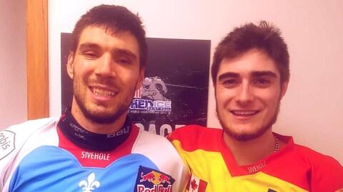 Guillaume Bouvet-Morrissette et Samuel Nadeau côte à côte