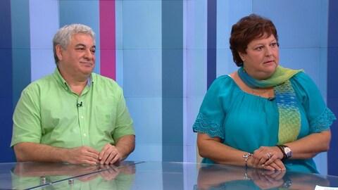 Luc Patry et Nathalie Beaulieu sur le plateau de l'émission Isabelle Richer