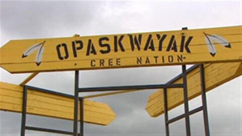 La réserve de la nation crie Opaskwayak se situe tout près de la ville de The Pas, dans le nord-ouest du Manitoba.