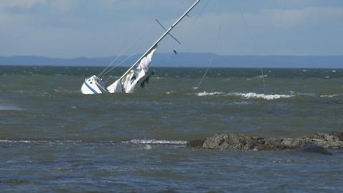 Deux personnes ont été sauvées par la Garde côtière auxiliaire canadienne lors de la tempête du 21 septembre 2018 à Rimouski.