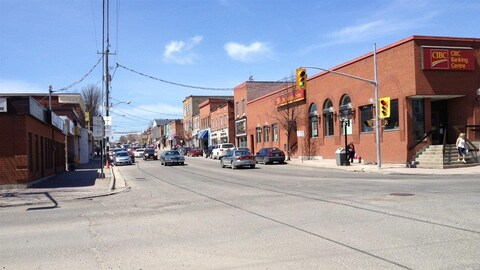 Le centre-ville de New Liskeard.