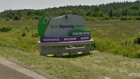 La municipalité de Nipissing Ouest.