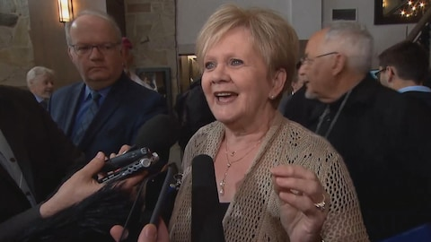 Noëlla Champagne était au conseil national du PQ dimanche à Drummondville.