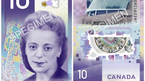 Nouveau 10$ canadien, photo de Viola Desmond