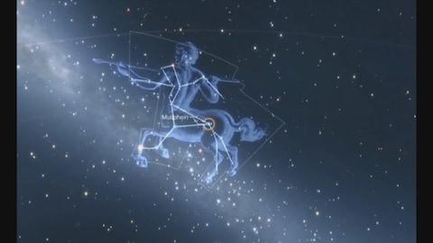 Une image du ciel et de la constellation du Centaure