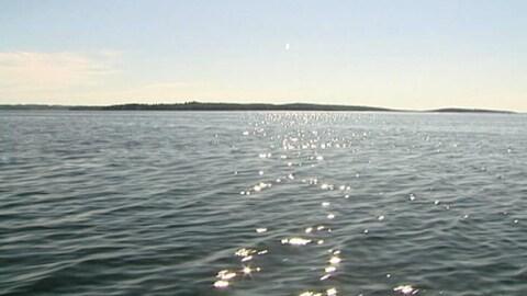La mer à proximité de la côte de la Nouvelle-Écosse