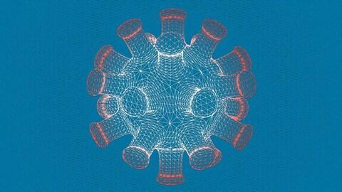 Illustration d'une molécule