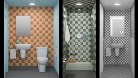 Les différents types de sanitaires de l'hôtel Pangea Pod