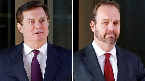 Paul Manafort (à gauche) et son ancien bras droit, Rick Gates