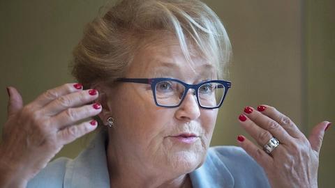 L'ancienne dirigeante du PQ et première femme élue première ministre du Québec, Pauline Marois,