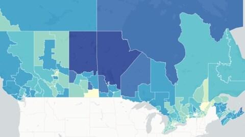 Carte des circonscriptions du Canada