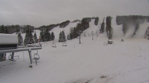 Les pentes de ski à Val-Neigette.