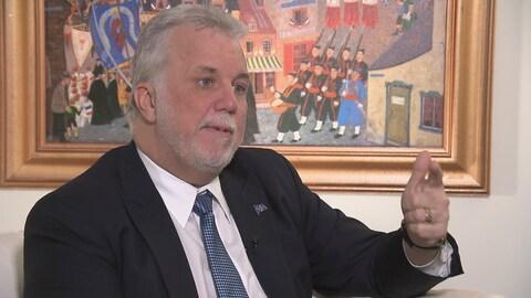Le premier ministre Philippe Couillard en entrevue