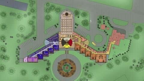Plan de la nouvelle école de la Première Nation de Pic River.