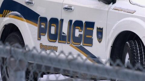 Une voiture de la police de Saguenay