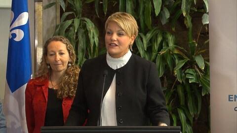 La ministre de l'Environnement du Québec Isabelle Melançon.