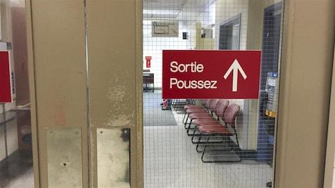 Sortie de l'urgence de l'hôpital Notre-Dame