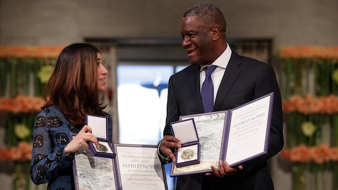 Les deux lauréats du prix Nobel de la paix pour l'année 2018