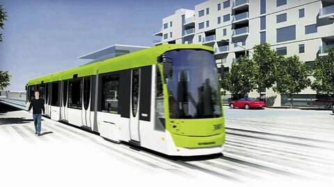 Une esquisse du défunt projet de tramway.