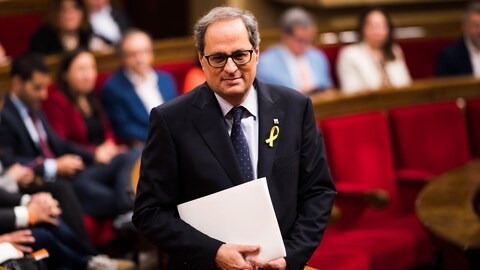 Agé de 55 ans, Quim Torra, avocat, écrivain et éditeur, est un député de Barcelone peu connu du grand public.