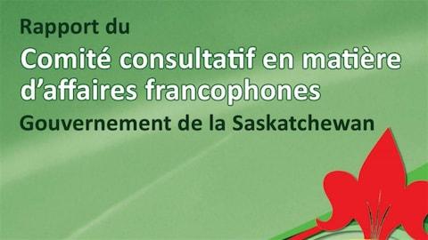 La page couverture du rapport du Comité consultatif en matière d'affaires francophones.