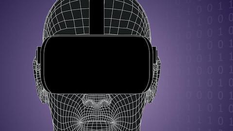 Illustration d'un masque de réalité virtuelle.