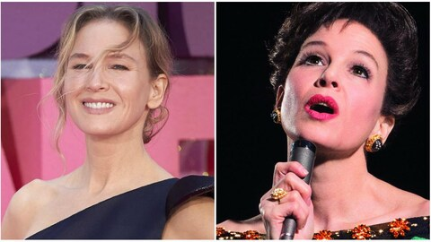 Collage photo de Renée Zellweger et de Judy Garland.