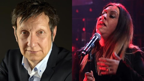Le metteur en scène Robert Lepage et la chanteuse Betty Bonifassi