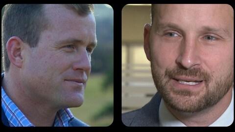 Portrait des deux candidats