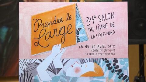 L'affiche du Salon du livre de la Côte-Nord.
