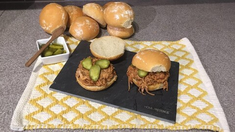 Sandwichs au porc effiloché