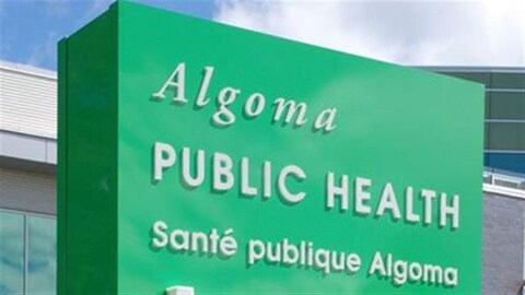 Pancarte extérieure Santé publique Algoma