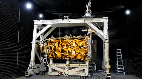 Un satellite en gros plan