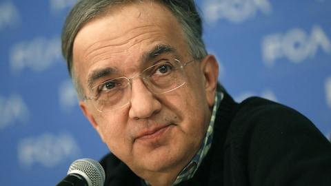 Sergio Marchionne, patron de Fiat Chrysler, en conférence de presse au Salon automobile de Détroit.