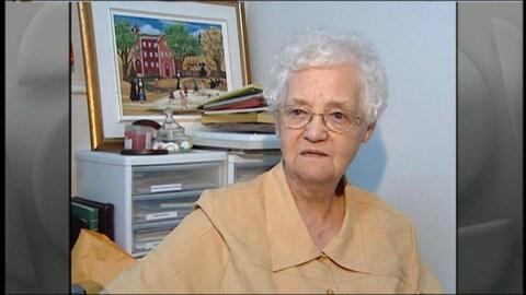 Une image d'archives de soeur Alda Boulay lors d'une entrevue.